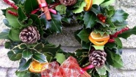 Christmas Wreath at Downside Nurseries